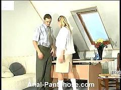 Susanna&Mike awesome anal pantyhose video