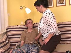 Nastyplace.org - Horny Big Tits Mom And 18 Yo Guy