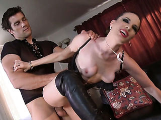 Dana DeArmond does dirty things and then gets covered in cum