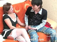 Mima&Jack passionate strapon action