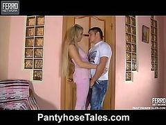 Rebecca&Govard mindblowing pantyhose video