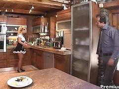 Mia Leone is a slutty maid
