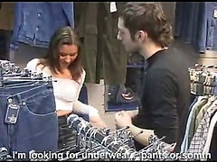 Russian stylish student gets quickly fucked in a store (Try something different  Free)