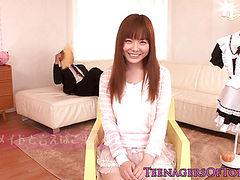 Newbie asian teen Anri Sonozaki facialized