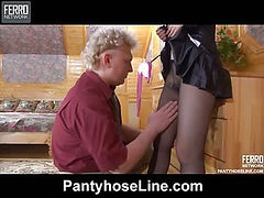 Mary&Jack pantyhose sex scene