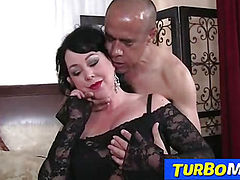 Fat big tits lady Amanda blowjob and big dick sex