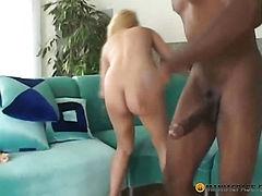 Super long cock in his hands blonde