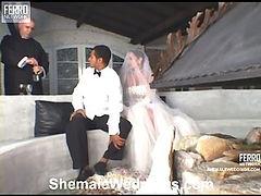 Rabeche leggy shemale bride