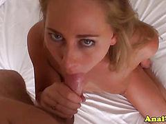 Assfucking blonde exgf fucks and sucks