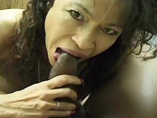 Asian Whore Sucks Big Black Cock