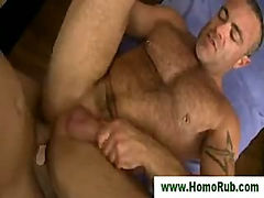 Muscular bear fucked and creamed