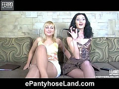 Joyce&Cora pantyhose fuck video