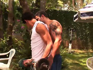Muscled hunks big cock hard fucked twinks ass outdoors
