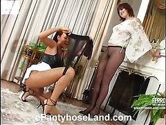 Mirabel&Deborah horny pantyhose video