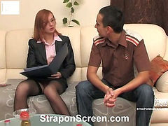 Emilia&Gilbert horny strapon video