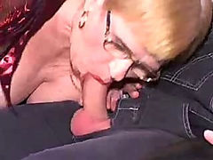 Chubby mature is double penetrated hard