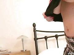 A slow striptease