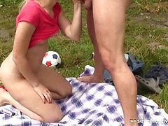 Blow job in the grass