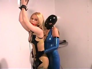 The brutal training naive blond slaves