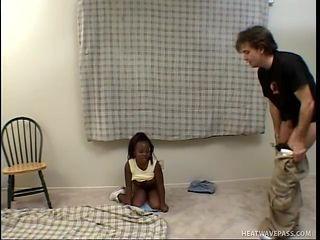 white guy fucking a black midget slut