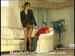 Christie&Richard mature pantyhose video