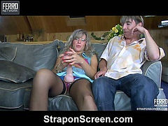 Nora&Morris horny strapon action