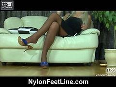 Monica nylon feet video