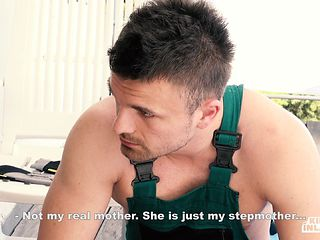 KINKY IN LAWS - Czech Stepmother Blanche Bradburry Gets DP By Stepson And His Friend