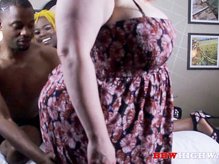Busty Bbw Mom In An Interracial Threesome On Bbwhighway.com