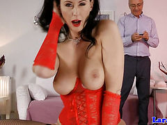 Upper class british in stockings doggystyled