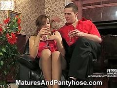 Helena&Mike mature pantyhose video