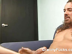 Mature Redhead Gives Expert Blowjob