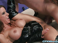Busty Bonnie Rotten in ffm action