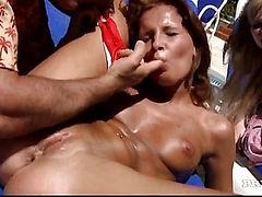 Outside the sun kissed villa, Tarra & Lauren also get ass kissed!