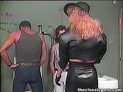 Public toilet wild group orgy