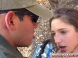 Milf makes teen and fake doctor blowjob Latina Deepthroats on the Border