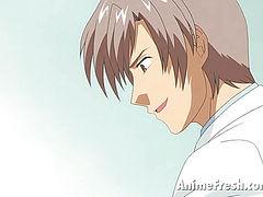 anime nurse getting undressed