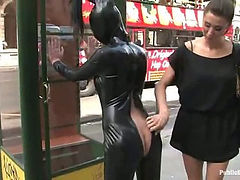 19 year old girl gets punished in public (Kink  Public Disgrace)