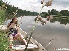 Masturbating on the river