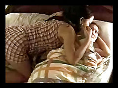 three asian lesbian student living, sleeping and fucking together