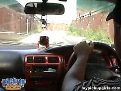 Brunette teen gets fucked by strange on the car bonnet