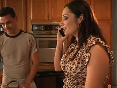 Nastyplace.org - Busty Mom And Young Guy At Home