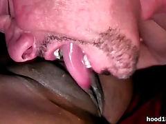 Horny ebony girl dildoing her pussy