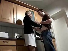 Young guy gets lucky with horny mature