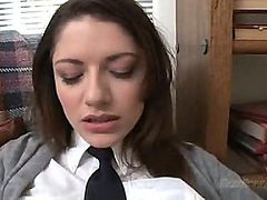 A cute sexy brunette schoolgirl having sex (Try something different  Free)
