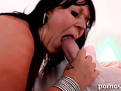 BigJugs milf enjoys a cock in her mouth and pussy