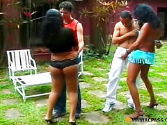 Girls having fun with the guys