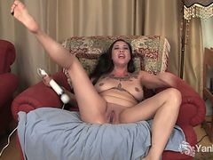 Tattooed milf eden alexander plays with a vibrator