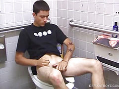 Young Dan Doe Jerks Off In Public Toilet