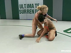 Sin makes the Dragon orgasm on the matStill gets her ass kick & fuckedNon-Scritped wrestling